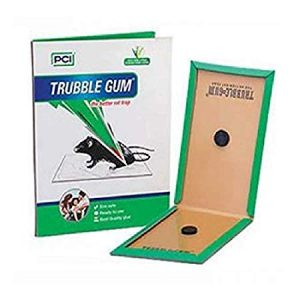 PCI TRUBBLE Gum-Rats/Mouse Non-Toxic Glue Trap- Use for Rats Control Eco Safe, Ready to use Glue (Pack of 05 Pieces)