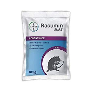 Bayer Rocumin Sure Bait-100Gms Use for Rats Control (Pack of 5 Pouches)