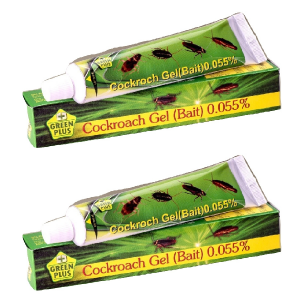 Green Plus Cockroach Gel -60gms- Use for Cockraoches Control -(Pack of 2 Pieces)